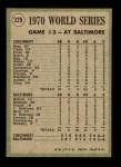1971 Topps #329   -  Frank Robinson / Paul Blair 1970 World Series - Game #3 - F. Robinson Shows Muscle Back Thumbnail