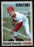 1970 Topps #106  Darold Knowles  Front Thumbnail