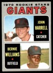 1970 Topps #401   -  Bernie Williams / John Harrell Giants Rookies Front Thumbnail