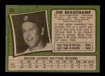 1971 Topps #322  Jim Beauchamp  Back Thumbnail