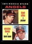 1971 Topps #152   -  Lloyd Allen / Winston Llenas Angels Rookies Front Thumbnail