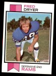 1973 Topps #389  Fred Dryer  Front Thumbnail
