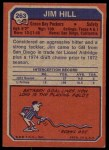 1973 Topps #263  Jim Hill  Back Thumbnail