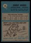 1964 Philadelphia #22  Johnny Morris  Back Thumbnail