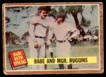 1962 Topps #137 NRM  -  Babe Ruth / Miller Huggins Babe and Mgr. Huggins Front Thumbnail