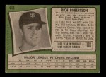 1971 Topps #443  Rich Robertson  Back Thumbnail