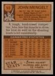 1978 Topps #53  John Mengelt  Back Thumbnail