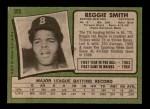 1971 Topps #305  Reggie Smith  Back Thumbnail