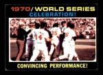 1971 Topps #332   1970 World Series - Summary - Celebration Front Thumbnail