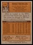 1978 Topps #124  Mike Newlin  Back Thumbnail
