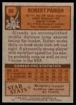 1978 Topps #86  Robert Parish  Back Thumbnail