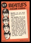 1964 Topps Beatles Color #57   Paul and Ringo Back Thumbnail