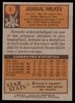 1978 Topps #3  Jamaal Wilkes  Back Thumbnail