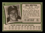 1971 Topps #80  Bill Melton  Back Thumbnail