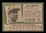 1971 Topps #212  Richie Hebner  Back Thumbnail