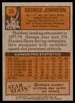 1978 Topps #55  George Johnson  Back Thumbnail