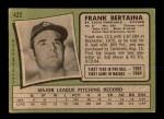 1971 Topps #422  Frank Bertaina  Back Thumbnail
