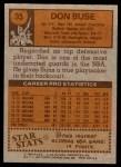 1978 Topps #35  Don Buse  Back Thumbnail
