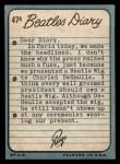 1964 Topps Beatles Diary #47 A Ringo Starr  Back Thumbnail