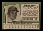 1971 Topps #427  Bernie Allen  Back Thumbnail