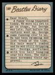 1964 Topps Beatles Diary #14 A John Lennon  Back Thumbnail