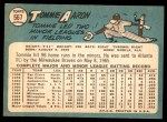 1965 Topps #567  Tommie Aaron  Back Thumbnail