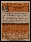 1978 Topps #127  Foots Walker  Back Thumbnail