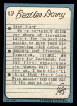 1964 Topps Beatles Diary #15 A Ringo Starr  Back Thumbnail