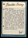 1964 Topps Beatles Diary #40 A Paul McCartney  Back Thumbnail