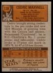 1978 Topps #128  Cedric Maxwell  Back Thumbnail
