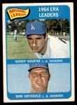 1965 Topps #8   -  Sandy Koufax / Don Drysdale NL ERA Leaders Front Thumbnail