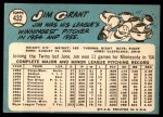 1965 Topps #432  Jim Mudcat Grant  Back Thumbnail