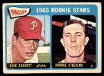 1965 Topps #521   -  Morrie Steevens / Dave Bennett Phillies Rookies Front Thumbnail