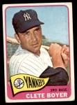 1965 Topps #475  Clete Boyer  Front Thumbnail