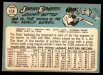 1965 Topps #418  Johnny Edwards  Back Thumbnail