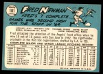 1965 Topps #101  Fred Newman  Back Thumbnail