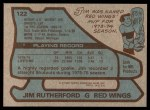 1979 Topps #122  Jim Rutherford  Back Thumbnail