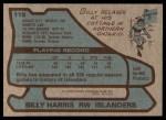 1979 Topps #115  Billy Harris  Back Thumbnail