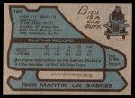 1979 Topps #149  Richard Martin  Back Thumbnail