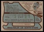 1979 Topps #219  Mike Fidler  Back Thumbnail