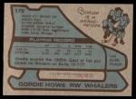 1979 Topps #175  Gordie Howe  Back Thumbnail