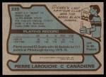 1979 Topps #233  Pierre Larouche  Back Thumbnail