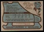 1979 Topps #107  Andre Lacroix  Back Thumbnail