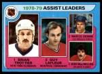1979 Topps #2   -  Bryan Trottier / Guy LaFleur / Marcel Dionne / Bob MacMillan Assist Leaders Front Thumbnail