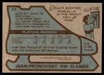 1979 Topps #77  Jean Pronovost  Back Thumbnail