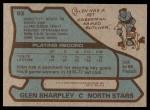 1979 Topps #93  Glen Sharpley  Back Thumbnail