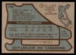 1979 Topps #200  Guy Lafleur  Back Thumbnail