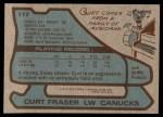 1979 Topps #117  Curt Fraser  Back Thumbnail