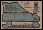 1979 Topps #118  Jean-Paul Parise  Back Thumbnail