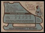 1979 Topps #132  Vaclav Nedomansky  Back Thumbnail